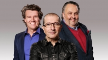 De jury van MasterChef Holland, vlnr: Peter Lute, Alain Caron, Julius Jaspers
